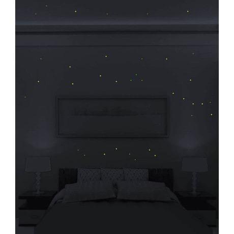 Leuchtpunkte Aufkleber Wandsticker Wandtattoo für Sternenhimmel