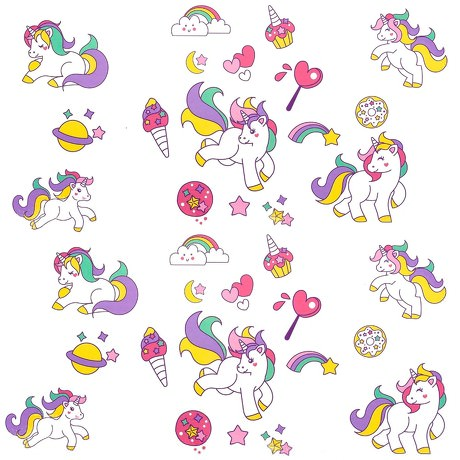 Einhorn Unicorn Tattoos Set 32 Stk. Temporäre Kindertattoos