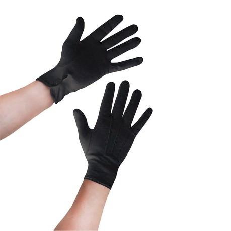 Herren Handschuhe Einbrecher Dieb Kostüm Accessoire - schwarz