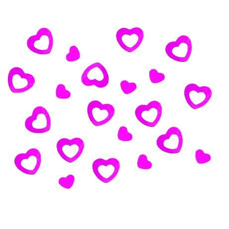 Herz Konfetti Tischdeko Liebe Romantik Hochzeitsdeko - pink