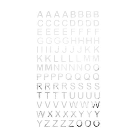 Abc Alphabet Buchstaben Sticker Aufkleber Zum Basteln Spielen Bekleben Von Einladungen Silber