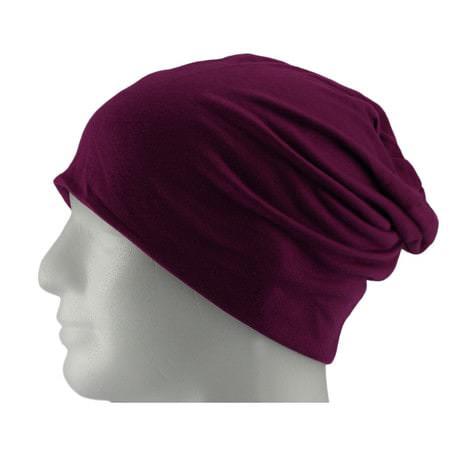 Long Beanie XXL Mütze Slouch Damen Herren Kinder Mütze - purple