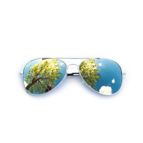 Pilotenbrille Sonnenbrille Herren Damen Flieger silber-grey