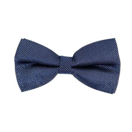 Fliege Schleife gepunktet glitzernd Hochzeit Anzug Smoking - dunkelblau