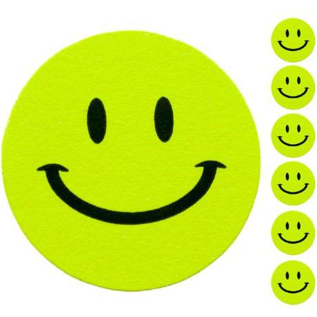 18 Smiley Sticker Aufkleber Lächeln Emoji Smily Smilie Face - grün
