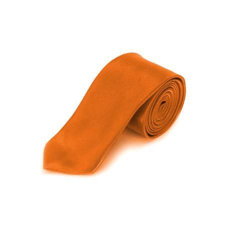Krawatte Schlips schmal Binder Style - orange
