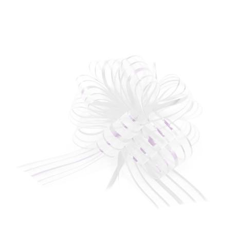 Geschenkschleife mit Geschenkband Groß Deko Schleife Geschenkdeko - weiß