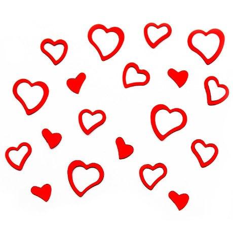 Herz Konfetti Tischdeko Liebe Romantik Hochzeitsdeko - rot