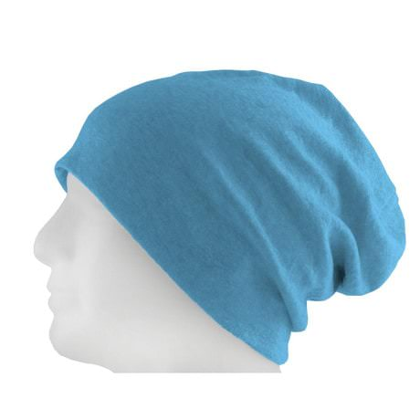 Long Beanie XXL Mütze Slouch Damen Herren Kinder Mütze - heather blue