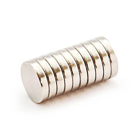 Neodym Magnet N38 ø 10 x 2 mm