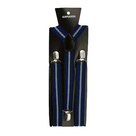 Hosenträger Unisex verstellbar Y -Form - triple-blue