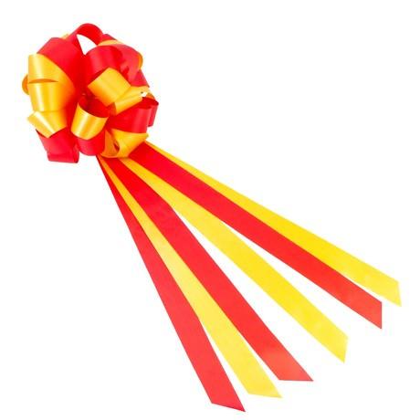 Geschenkschleife mit Geschenkband Groß Deko Schleifen - rot gold
