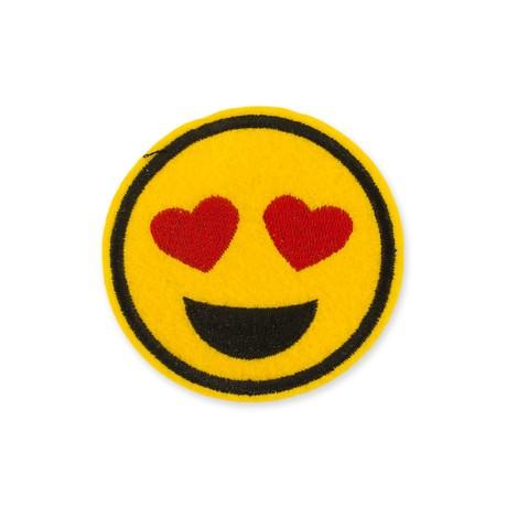 Aufnäher Patch Abzeichen Aufbügler Flicken - Smiley