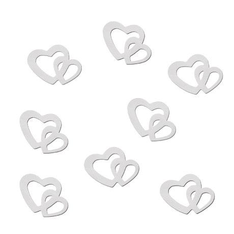 Herz Konfetti Tischdeko Liebe Romantik Hochzeitsdeko - weiß