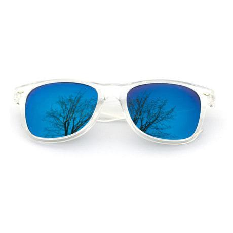 Nerdbrille Hornbrille 80s Retro Nerd Streber Sonnenbrille - blau