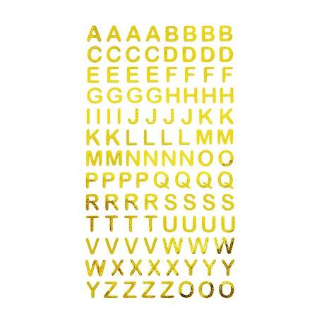 Abc Alphabet Buchstaben Sticker Aufkleber Zum Basteln Spielen Bekleben Von Einladungen Gold