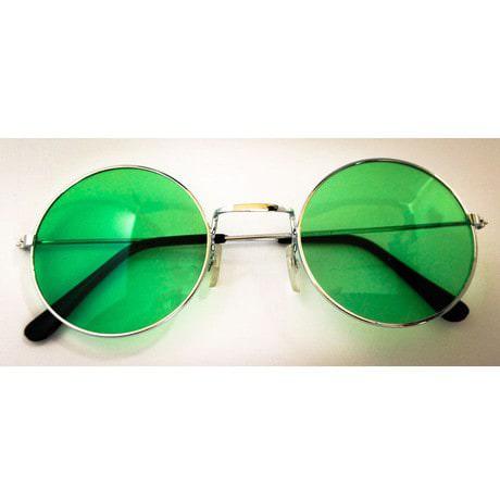 John Lennon Hippie Brille Sonnenbrille Herren Damen 60er 70er - grün