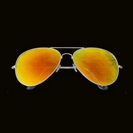 Pilotenbrille Sonnenbrille Herren Damen Flieger rot gold