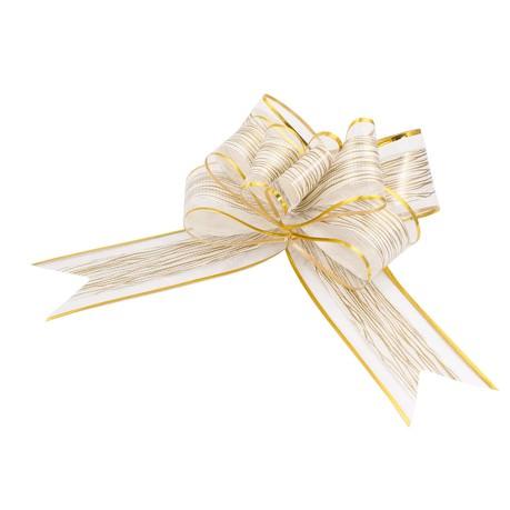 Geschenkschleife Deko Schleifen für Geschenke uvm - creme gold