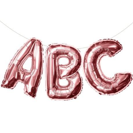 ABC Folienballon Girlande Schuleinführung Einschulung Schulanfang Feier Deko rosé gold