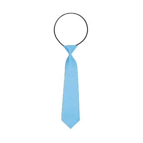 Kinder Krawatte Schlips gebunden dehnbar - hellblau