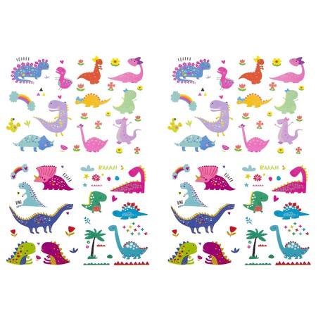 Temporäre Klebetattoos Kinder Dinosaurier Tattoo Set - Dino Motive