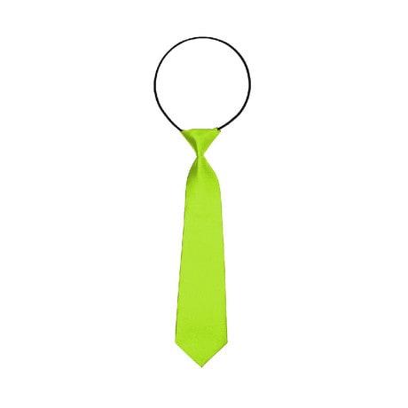 Kinder Krawatte Schlips gebunden dehnbar - neongrün