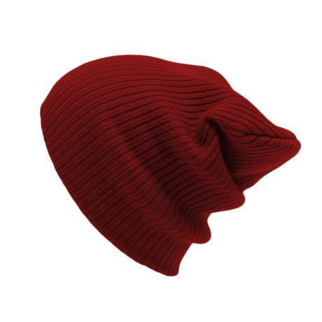 Long Beanie Mütze XXL Damen Herren Kinder Winter Mütze - dunkelrot
