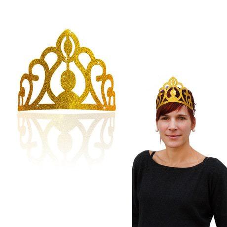 Krone mit Glitzereffekt Prinzessin Königin Kostüm Karneval - gold