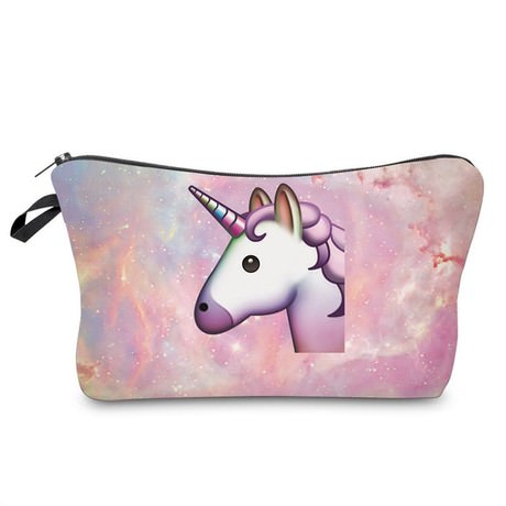 Einhorn Kosmetiktasche Unicorn Kulturbeutel Beutel Federmappe - rosa