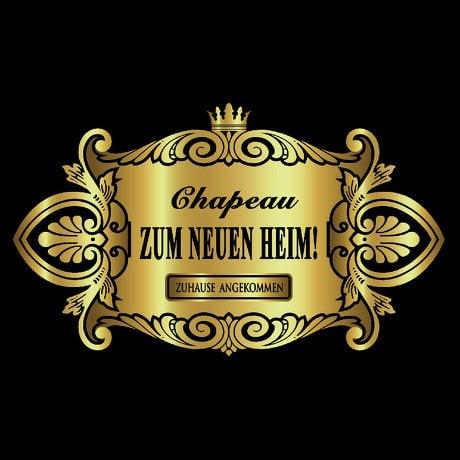 Flaschenetikett Aufkleber Sticker gold elegant Geburtstag - Neues Heim