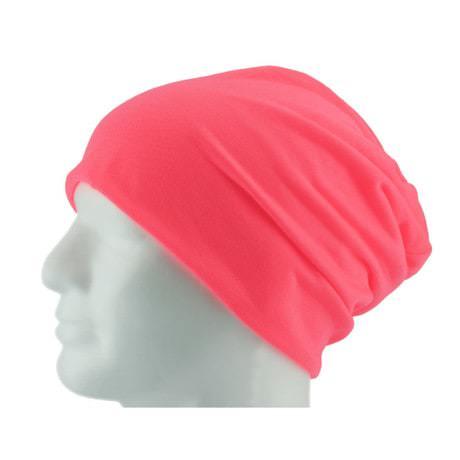 Long Beanie XXL Mütze Slouch Damen Herren Kinder Mütze - neon rosa