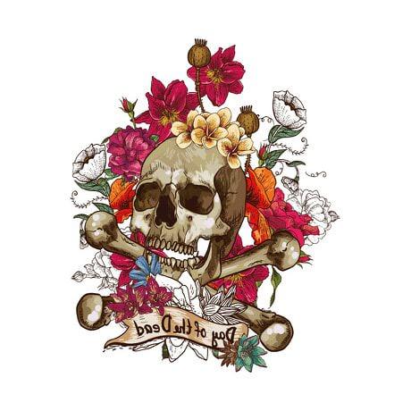 Temporäres Tattoo Klebetattoo Tättowierung - Bones & Roses