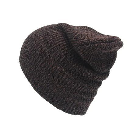 Long Beanie Mütze XXL Damen Herren Kinder Winter Mütze - schwarz-braun