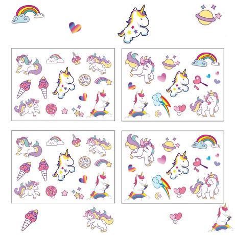60 Einhorn Unicorn Sticker Aufkleber Set Deko Kinder Geburtstag