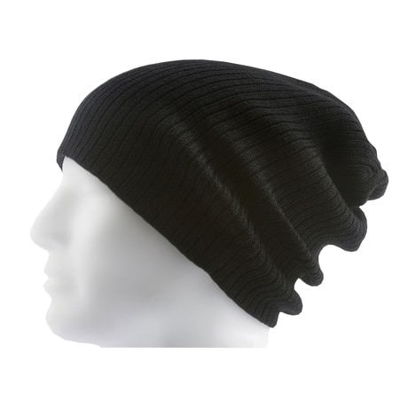 Long Beanie Mütze XXL Damen Herren Kinder Mützen Winter - black