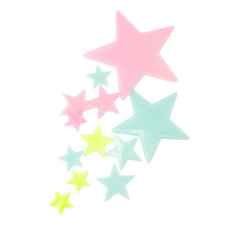 10 Leuchtsterne Sticker Stern Aufkleber leuchtend Wandsticker bunt