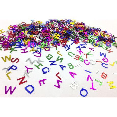 ABC Alphabet Konfetti Streudeko Streuteile Deko 14g - bunt