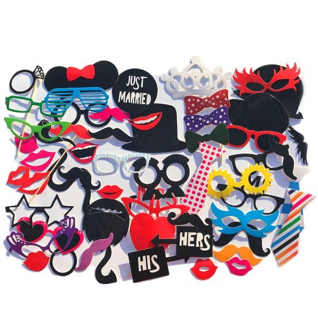 57 Fotorequisiten Foto Props Fotoaccessoires Masken Brillen Bärte JGA