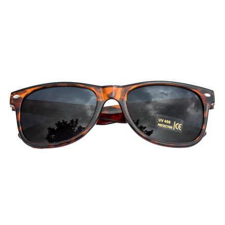 Nerdbrille Hornbrille 80s Retro Nerd Sonnenbrille - leopard braun