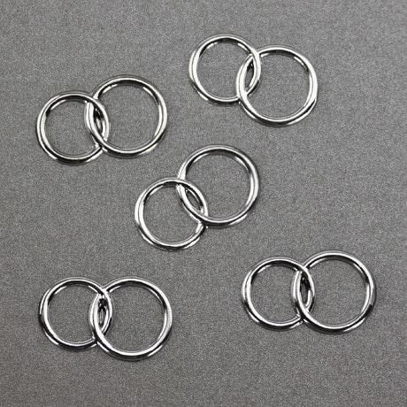 Konfetti Doppelringe Ringe Streudeko Tischdeko Hochzeitsdeko - silber