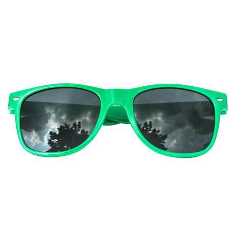 Nerdbrille Hornbrille 80s Retro Nerd Streber Sonnenbrille - grün
