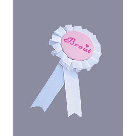 Braut Brosche JGA Button Junggesellinnenabschied - weiß
