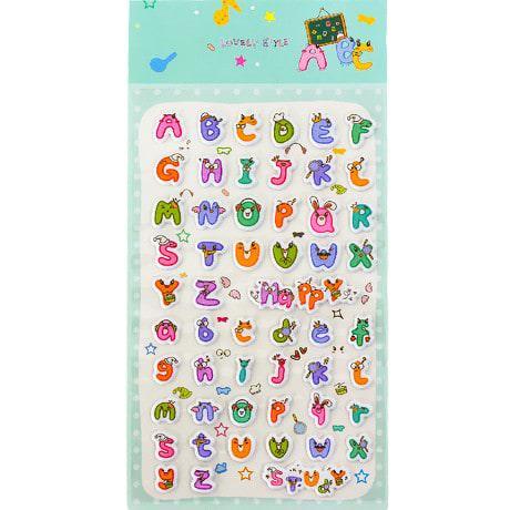 52 ABC Alphabet 3D Sticker Aufkleber Set Buchstaben