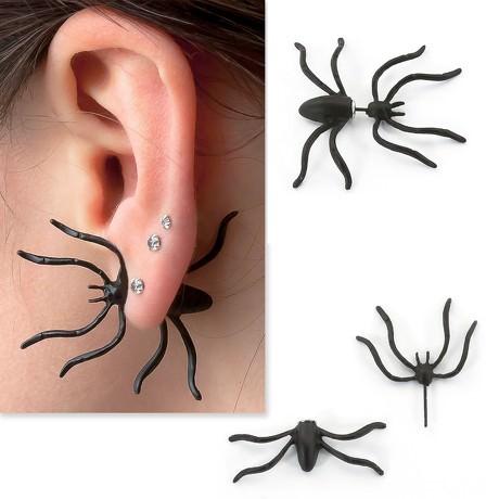 Halloween Ohrring Ohrstecker Spinne Spider Karneval Fasching