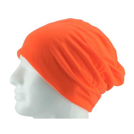 Long Beanie XXL Mütze Slouch Damen Herren Kinder Mütze - neon orange