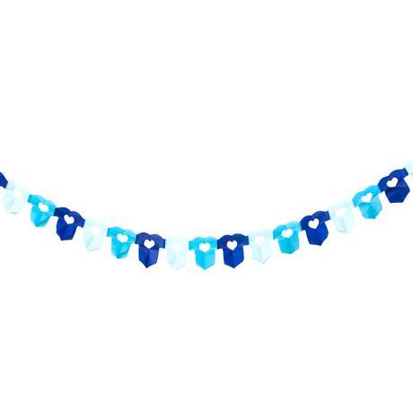Girlande Baby Shower Schwangerschaft - Hemdchen blau