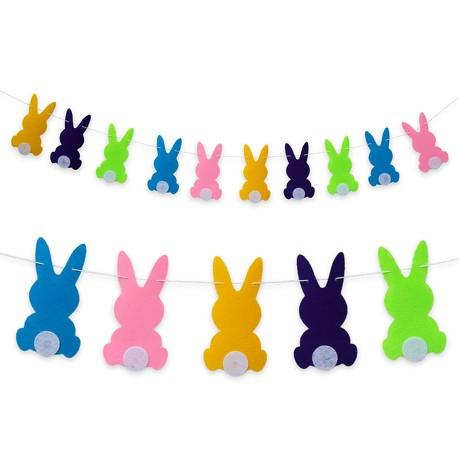 Hasen Girlande Osterhasen Kaninchen Kinderzimmer Deko Kinder Geburtstag