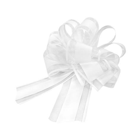 Geschenkschleife Matt Deko Schleifen für Geschenke Tüten  uvm - weiß