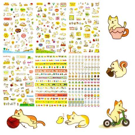 Katzen Sticker Kätzchen Aufkleber Sticker Vintage Scrapbooking